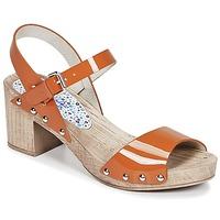Shoes Women Sandals Ippon Vintage SOK COLORS Orange