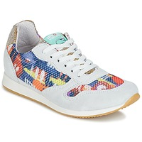 Shoes Women Low top trainers Ippon Vintage RUN-SEVENTY White / Multicolour / Gold