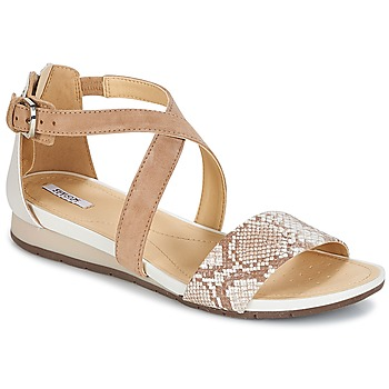 Shoes Women Sandals Geox FORMOSA A Beige / White