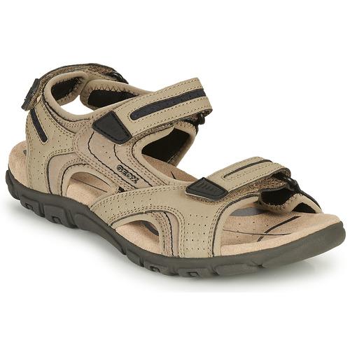 Shoes Men Sandals Geox S.STRADA D Sable / Marine