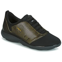 Shoes Women Low top trainers Geox D NEBULA C Gold / Black