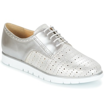Shoes Women Derby Shoes Geox KOOKEAN Silver