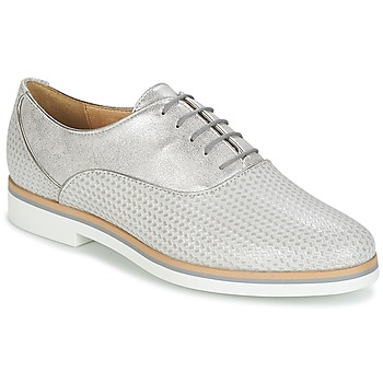 Shoes Women Derby Shoes Geox JANALEE A Grey / White