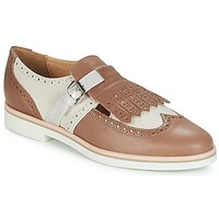 Shoes Women Derby Shoes Geox JANALEE B Sable / White