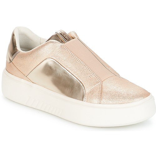 Shoes Women Low top trainers Geox NHENBUS Pink / Gold