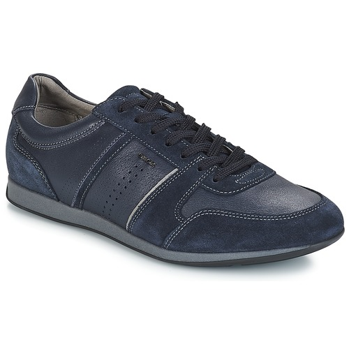Shoes Men Low top trainers Geox CLEMENT Navy