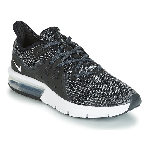 Shoes Boy Low top trainers Nike AIR MAX SEQUENT 3 GROUNDSCHOOL Grey / Black