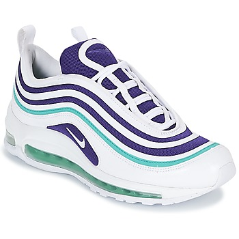 Shoes Women Low top trainers Nike AIR MAX 97 ULTRA '17 SE W White / Purple / Green