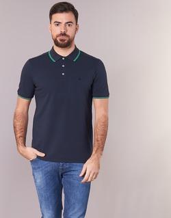 Clothing Men short-sleeved polo shirts Benetton MADURI Marine