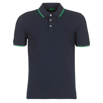 Clothing Men short-sleeved polo shirts Benetton MADURI Marine