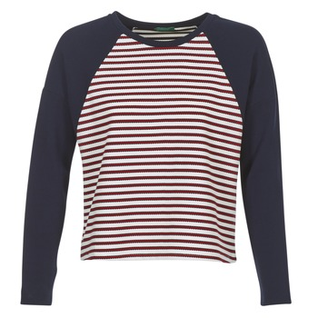 Clothing Women Jumpers Benetton JUIREOL Marine / White / Red