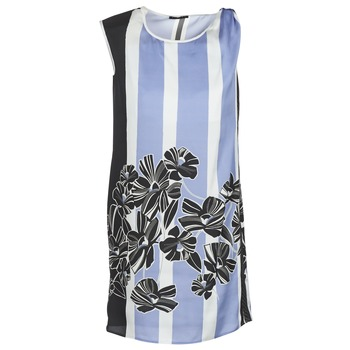Clothing Women Short Dresses Sisley LAPOLLA Blue / White / Black