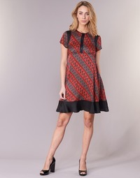 Clothing Women Short Dresses Sisley ZEBRIOLO Red / Black