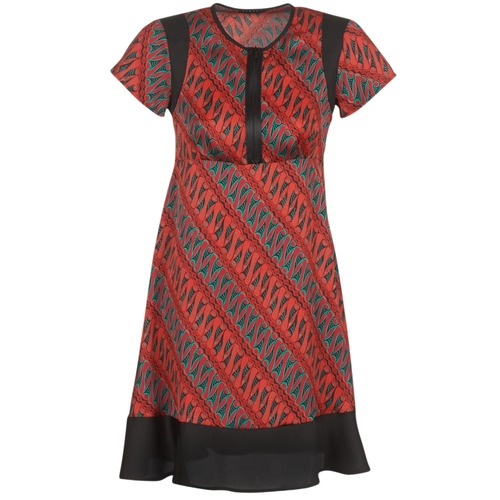 Clothing Women Short Dresses Sisley ZEBRIOLO Red / Black