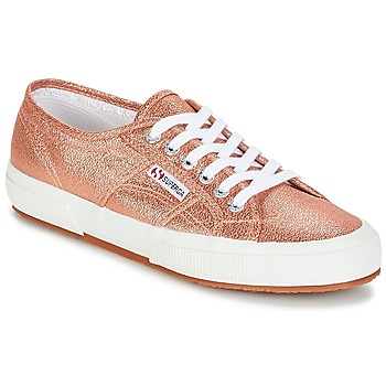 Shoes Women Low top trainers Superga 2750 LAMEW Pink / Gold