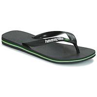 Shoes Flip flops Havaianas BRAZIL LOGO Black