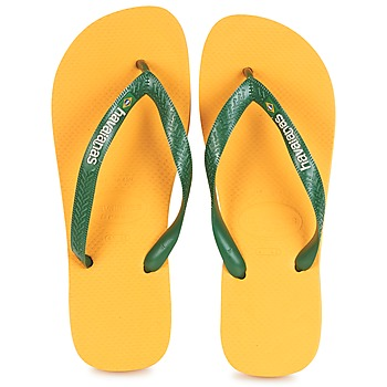 Shoes Flip flops Havaianas BRAZIL LOGO Yellow
