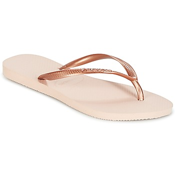 Shoes Girl Flip flops Havaianas SLIM Pink / Gold