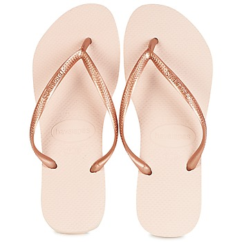 Shoes Women Flip flops Havaianas SLIM Pink / Gold