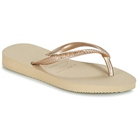 Shoes Girl Flip flops Havaianas SLIM Beige