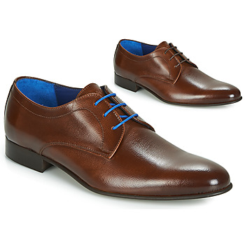 Shoes Men Derby Shoes Azzaro CRISTAL Cognac