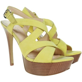 Shoes Women Heels Guess Danten Sandalo Sandal Nubuck Yello