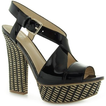 Shoes Women Sandals Guess Jolani Sandalo Sandal Patent Black