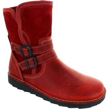 Shoes Women Ankle boots Oxygen Liffey Amazonia Red