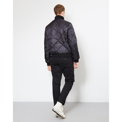 Clothing Men Jackets The Idle Man Quilted Funnel Neck Bomber Jacket Black Black