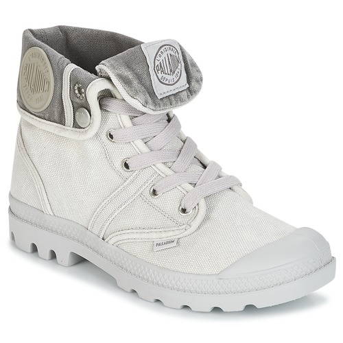 Shoes Women Mid boots Palladium BAGGY PALLABROUSSE Grey / Metal