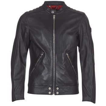 Clothing Men Leather jackets / Imitation leather Diesel L SQUAD Black