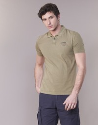 Clothing Men short-sleeved polo shirts Napapijri EGEGIK Kaki