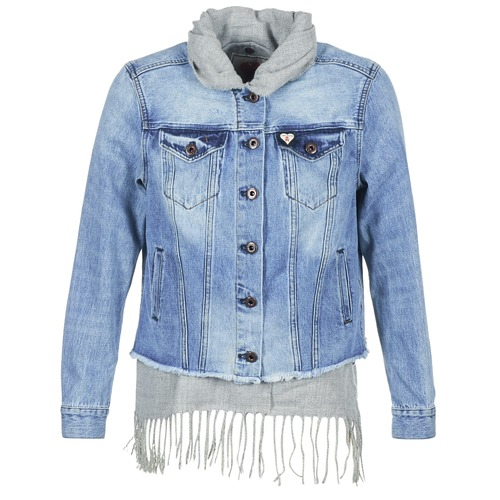 Clothing Women Denim jackets Maison Scotch XAOUDE Blue / Clear / Grey