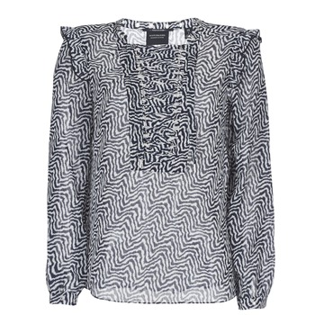 Clothing Women Tops / Blouses Scotch & Soda OLZAKD Black / White