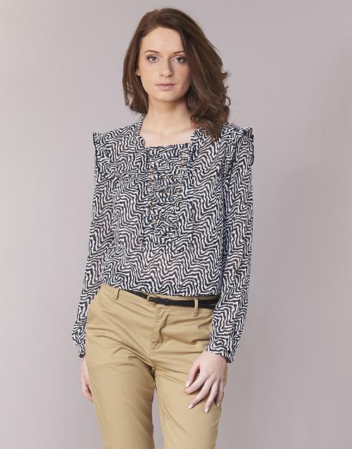 Clothing Women Tops / Blouses Maison Scotch OLZAKD Black / White
