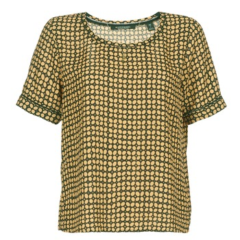 Clothing Women Tops / Blouses Maison Scotch SINIM Black / Mustard