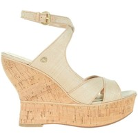 Shoes Women Heels Guess Lailanni Zeppa Wedge Texture Beige