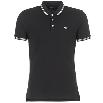 Clothing Men short-sleeved polo shirts Emporio Armani TAMWU Black