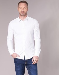 Clothing Men Long-sleeved shirts Emporio Armani BEWO White