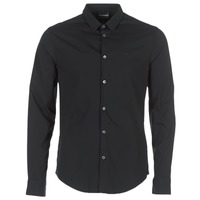 Clothing Men long-sleeved shirts Emporio Armani BEWO Black