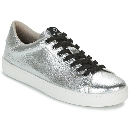 Shoes Women Low top trainers Victoria DEPORTIVO METALIZADO Silver