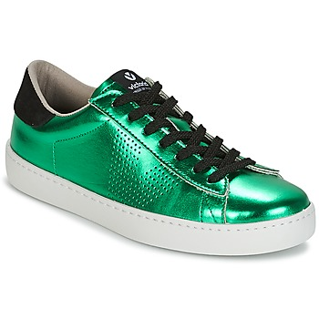 Shoes Women Low top trainers Victoria DEPORTIVO METALIZADO Green
