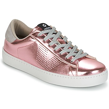 Shoes Women Low top trainers Victoria DEPORTIVO METALIZADO Pink