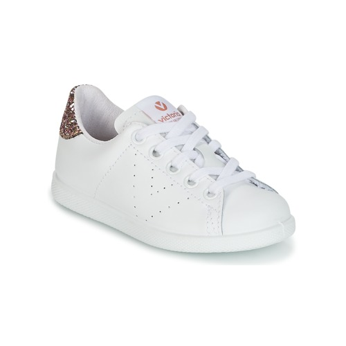 Shoes Girl Low top trainers Victoria DEPORTIVO BASKET PIEL KID White