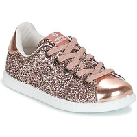 Shoes Girl Low top trainers Victoria DEPORTIVO GLITTER KID Pink