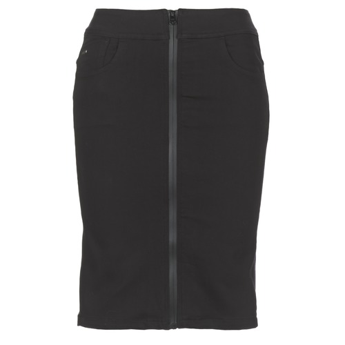 Clothing Women Skirts G-Star Raw LYNN LUNAR HIGH SLIM SKIRT Black