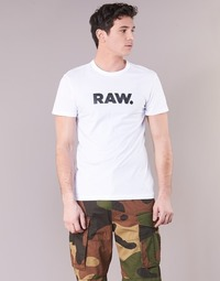Clothing Men short-sleeved t-shirts G-Star Raw HOLORN R T S/S White