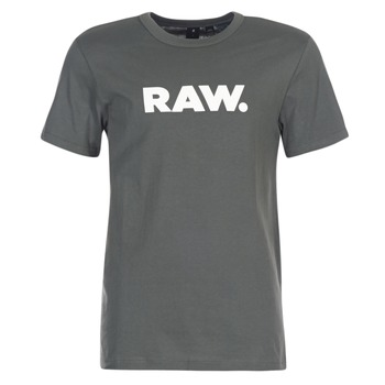 Clothing Men short-sleeved t-shirts G-Star Raw HOLORN R T S/S Grey