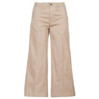 Clothing Women Chinos G-Star Raw BRONSON HIGH LOOSE CHINO 7/8 WMN Beige