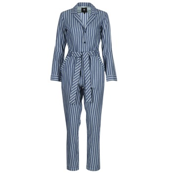 Clothing Women Jumpsuits / Dungarees G-Star Raw DELINE JUMPSUIT WMN L/S Blue / White
